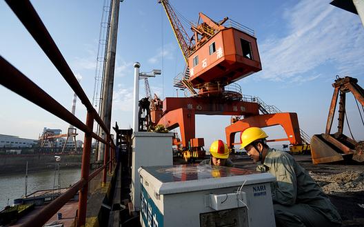 湖北黃石長江沿岸重點碼頭實現岸電全覆蓋