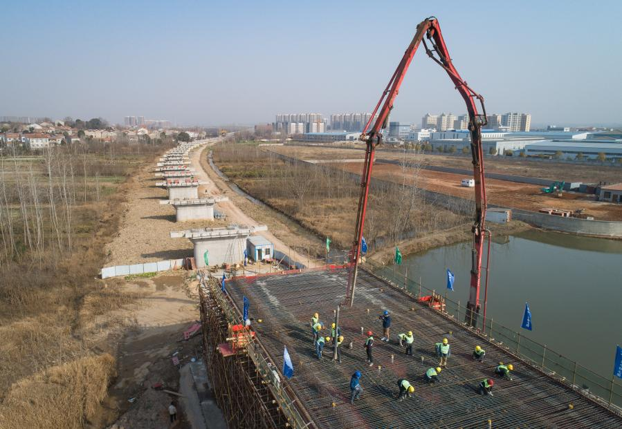 武漢江北鐵路建設有序推進