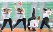 韓國藝體美女秀360度開球