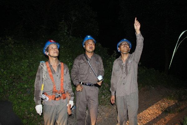 夷陵區供電公司暴雨後突擊搶險恢復供電