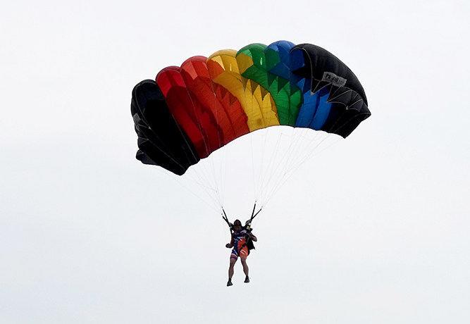 第七届世界军人运动会跳伞测试赛开赛