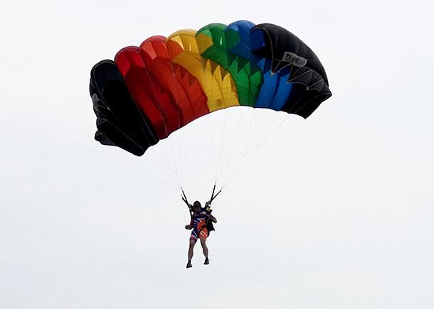 如何从千米高空跳下命中2厘米靶心 军运会伞兵告诉你