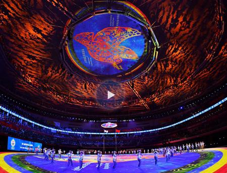 视频回放:第七届世界军人运动会闭幕式
