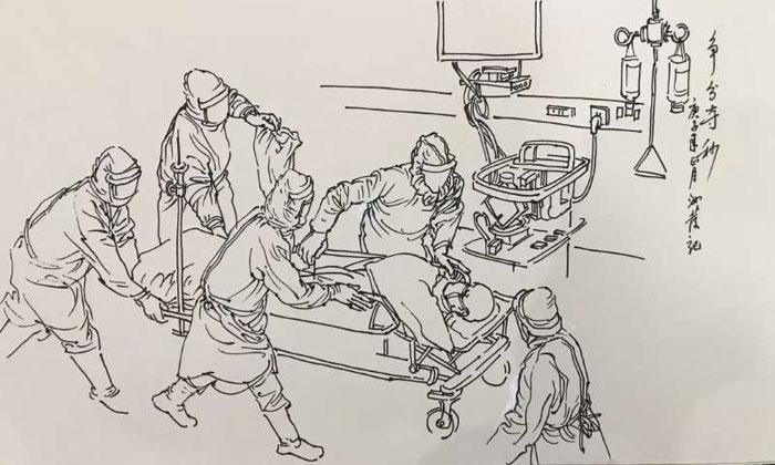 """以墨抒怀 汉川文艺工作者用笔描绘抗疫""""最美画面"""""""